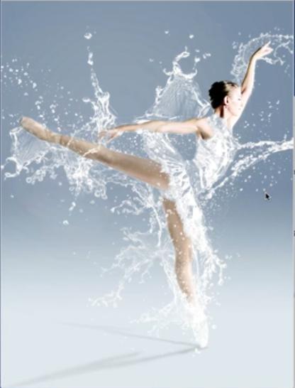 水舞芭蕾-Photoshop铬黄滤镜合成案例
